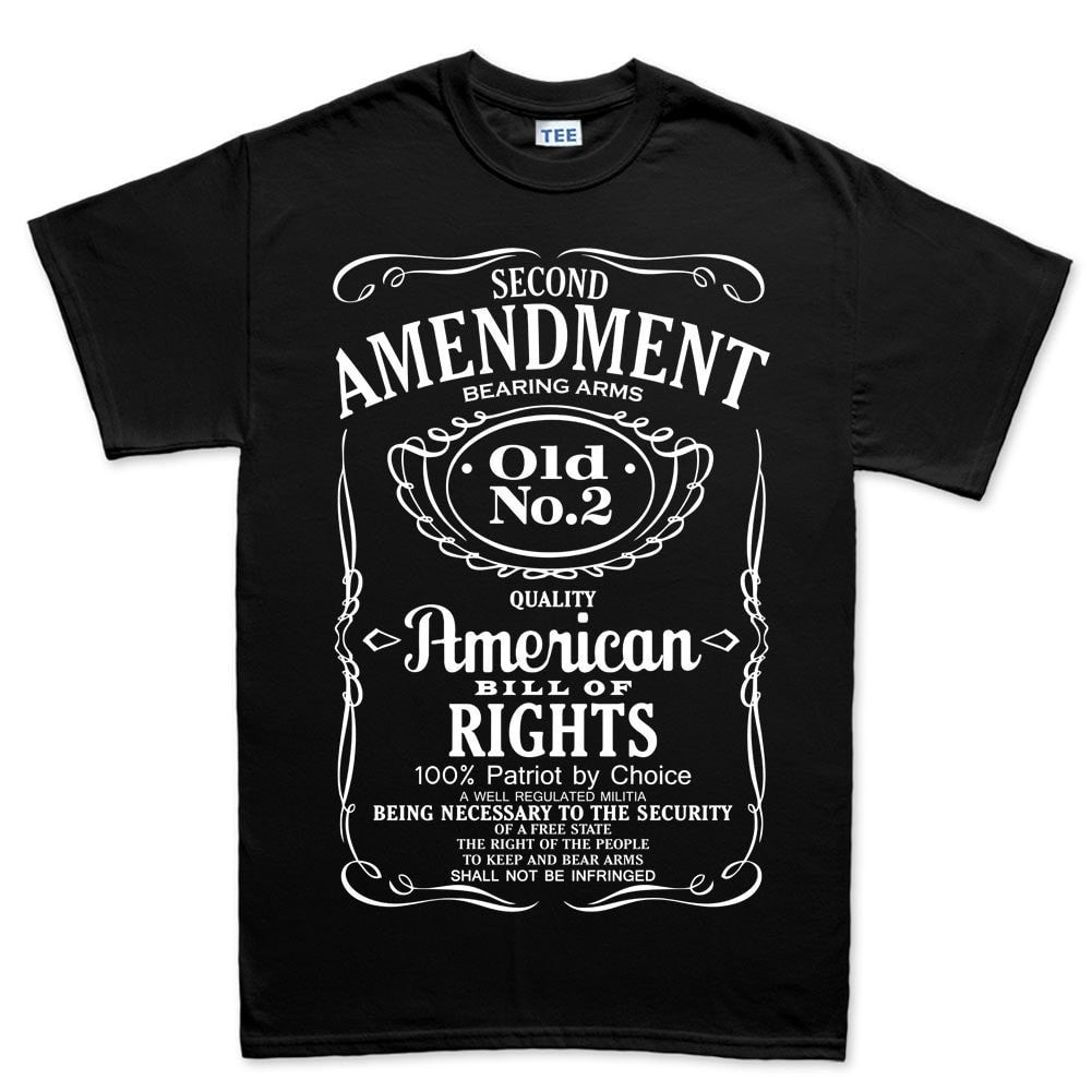 2Nd Amendment Quotes Mens 2Nd Amendment Whiskey Tshirt  Forged From Freedom