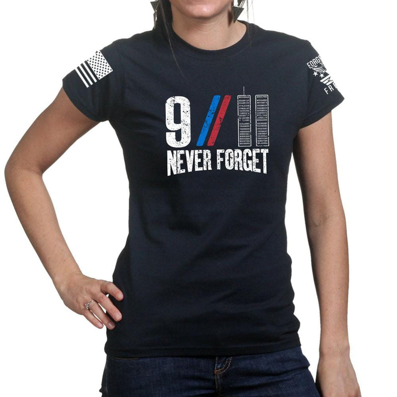 Ladies 9/11 Never Forget T-shirt