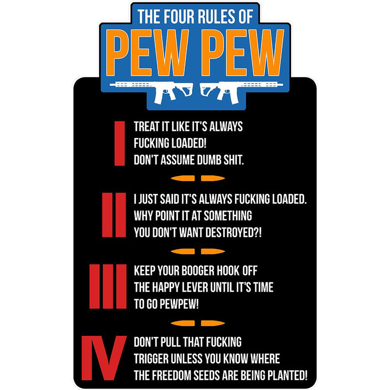 The Four Rules of Pew Pew Patch
