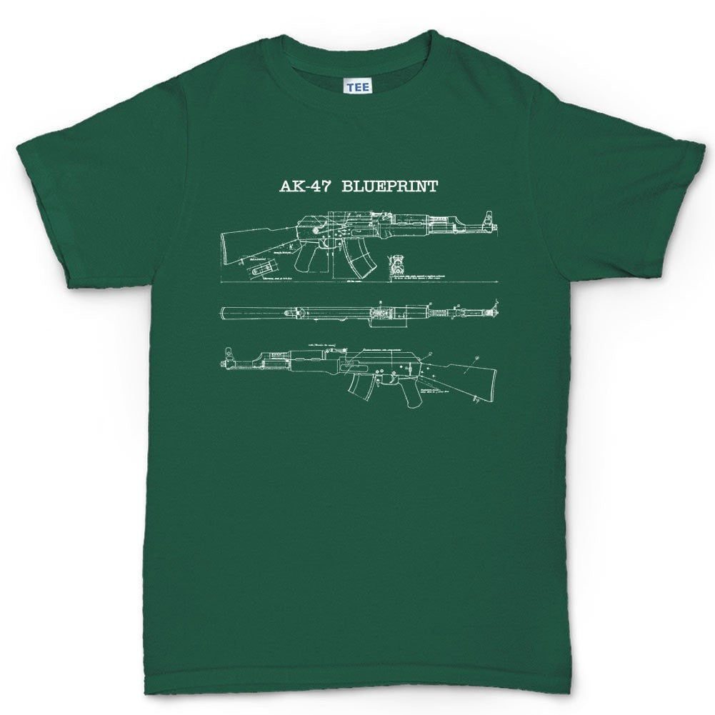 Ak 47 blueprint mens t shirt forged from freedom ak 47 blueprint mens t shirt malvernweather Choice Image