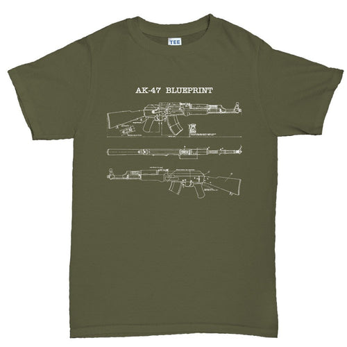 AK-47 Blueprint Mens T-shirt