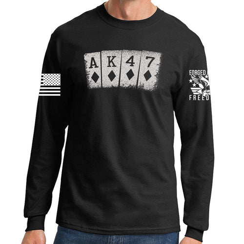 AK47 Playing Cards Long Sleeve T-shirt