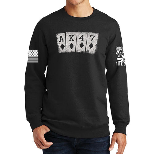 AK47 Playing Cards Sweatshirt