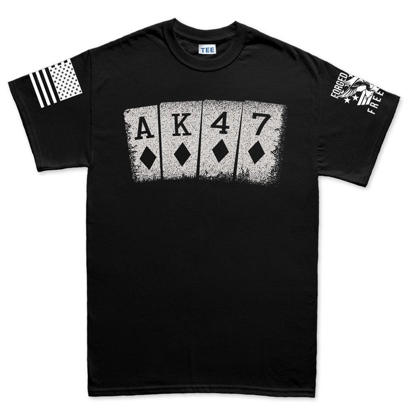 AK47 Playing Cards Men's T-shirt