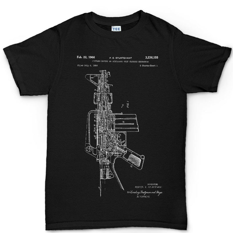 Men's AR-15 Pistol Blueprint T-shirt