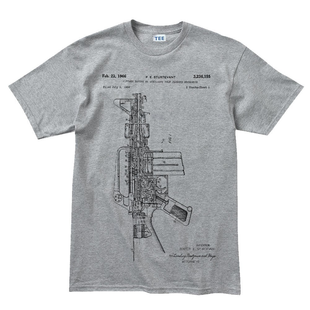 Mens ar 15 pistol blueprint t shirt forged from freedom mens ar 15 pistol blueprint t shirt malvernweather Choice Image