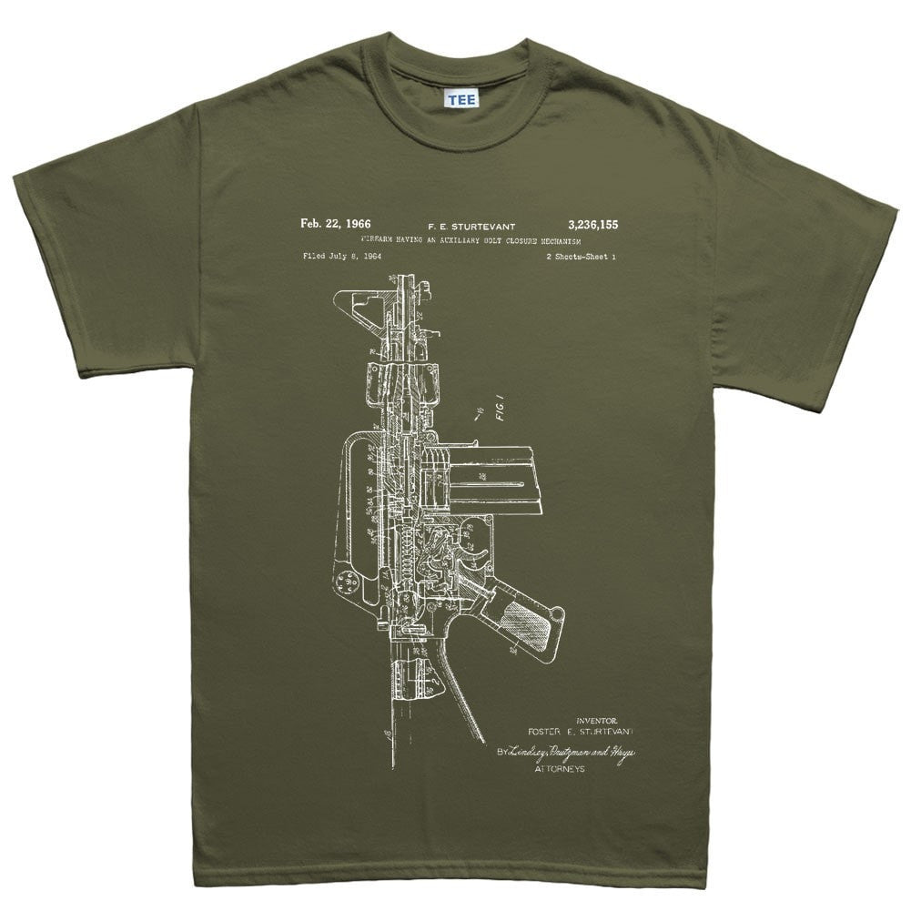 Mens ar 15 pistol blueprint t shirt forged from freedom mens ar 15 pistol blueprint t shirt malvernweather Gallery