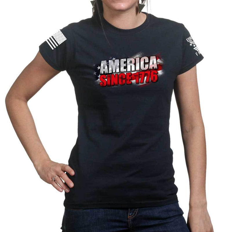 America Since 1776 Ladies T-shirt