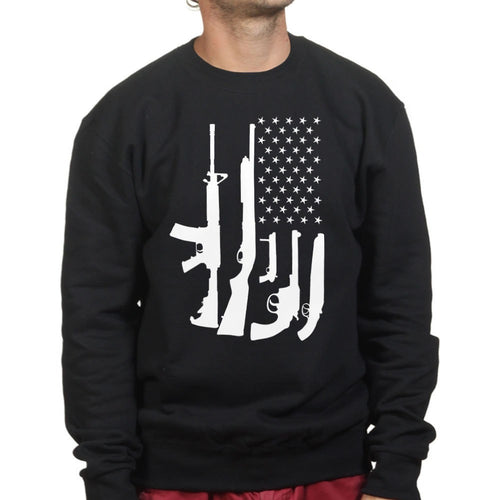 American Flag Guns Mens Sweatshirt
