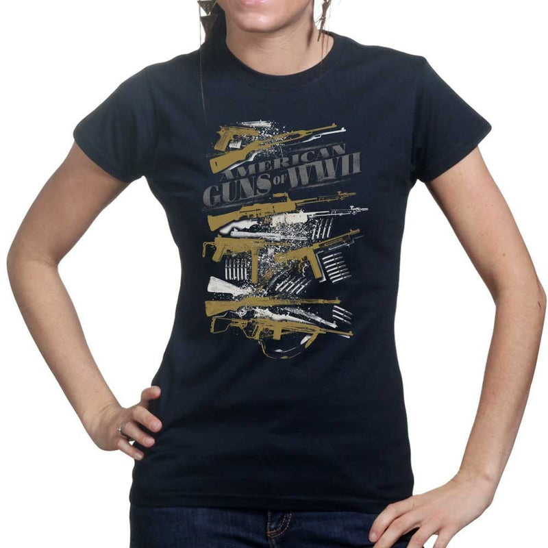 American Guns of WWII Ladies T-shirt