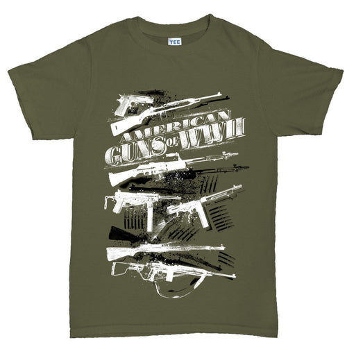 Men's American Guns of WWII T-shirt