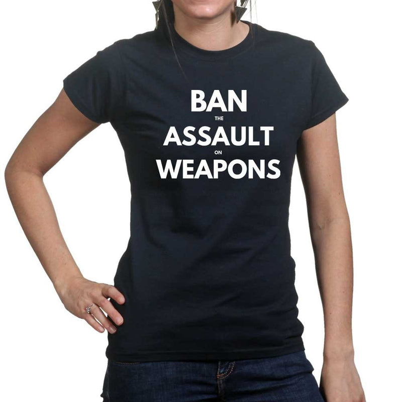 Ladies Ban Assault Weapons T-shirt
