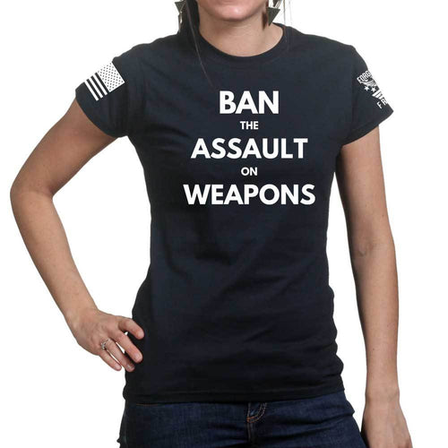 Ban Assault Weapons Ladies T-shirt