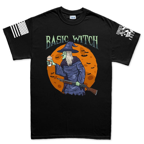 Mens Basic Witch T-shirt