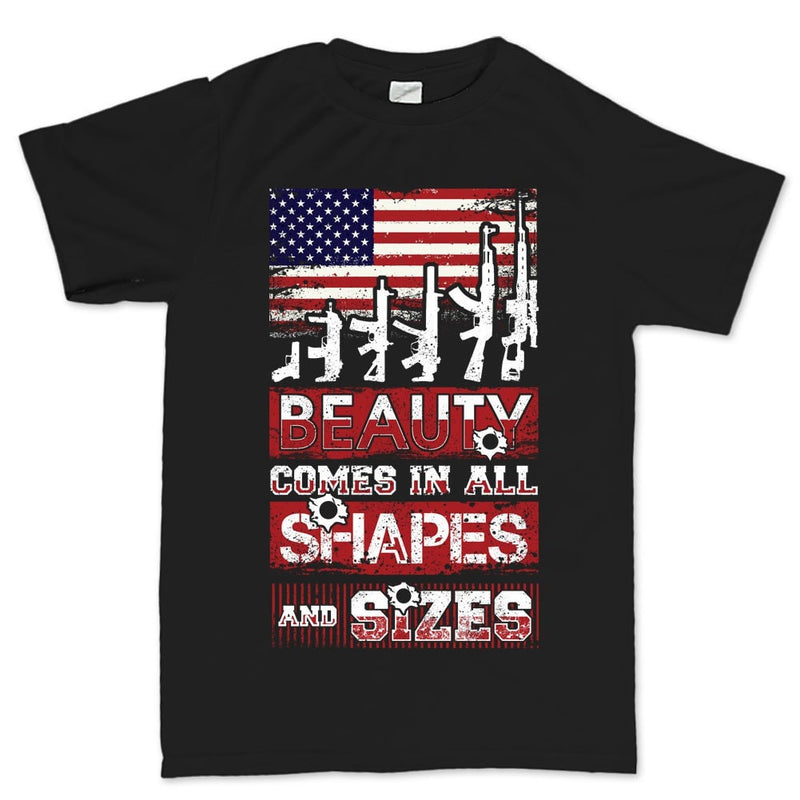 Beauty Comes In All Shapes And Sizes (Rifles) Men's T-shirt