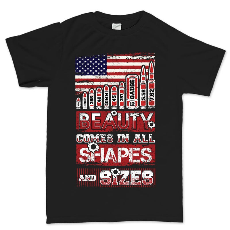 Beauty Comes In All Shapes and Sizes Bullets Mens T-shirt