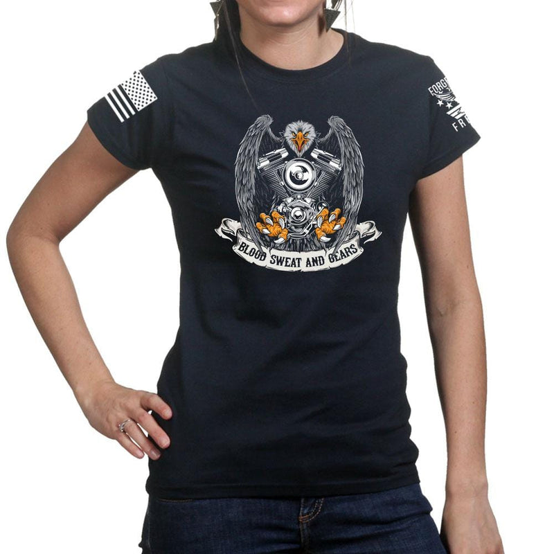 Blood Sweat and Gears Ladies T-shirt