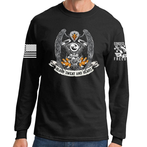 Blood Sweat and Gears Long Sleeve T-shirt