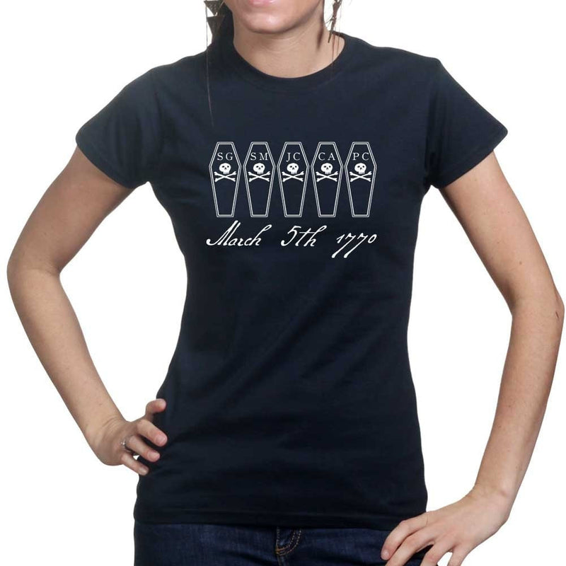 Boston Massacre Coffins Ladies T-shirt