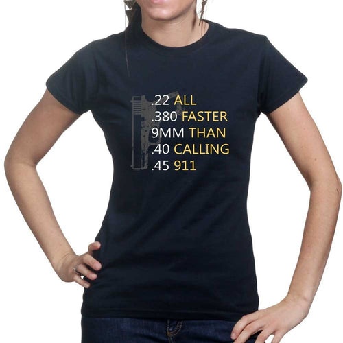 Bullets Faster Than 911 Ladies T-shirt