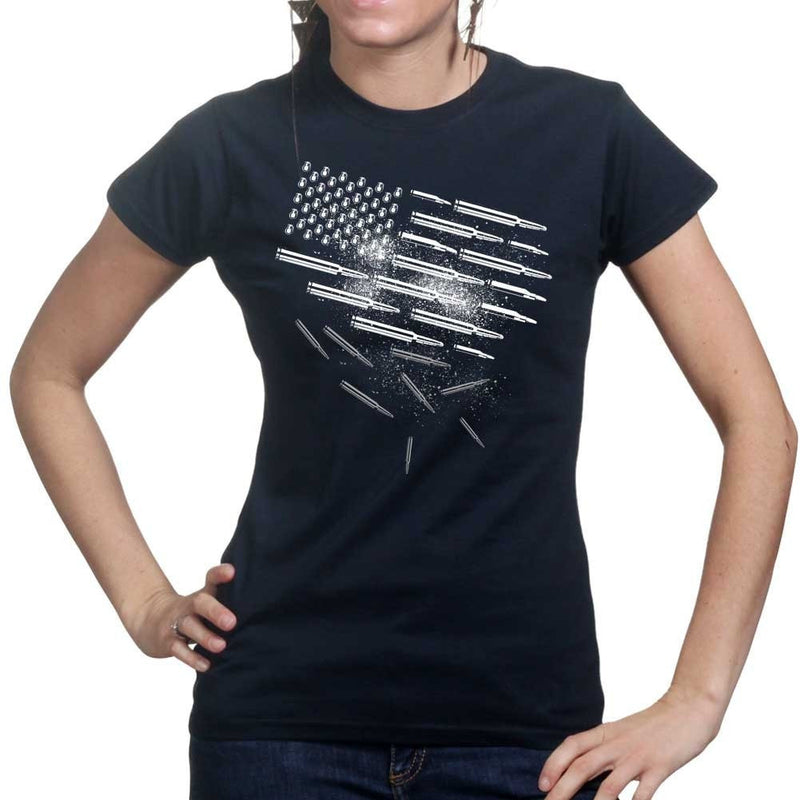 Ladies Bullets and Grenades Flag T-shirt