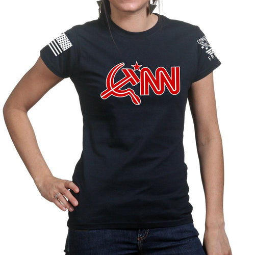 Commie News Network Ladies T-shirt