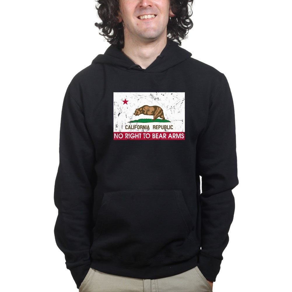 37b0ee85a California Republic No Right To Bear Arms Mens Hoodie – Forged From Freedom