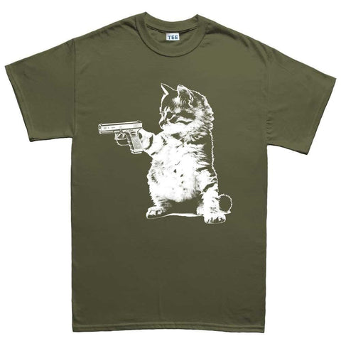 Men S Kitty Cat Gun T Shirt Forged From Freedom