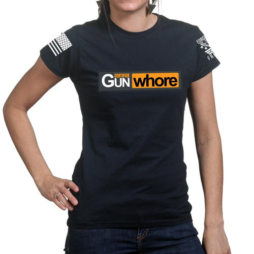 Certified Gun Whore Ladies T-shirt