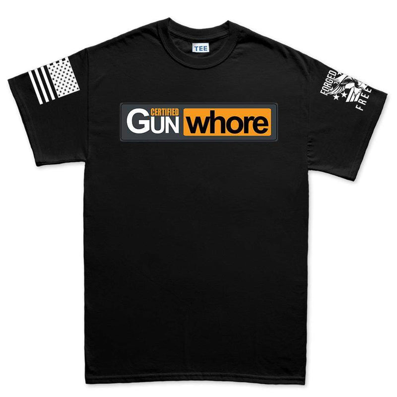 Certified Gun Whore Men's T-shirt