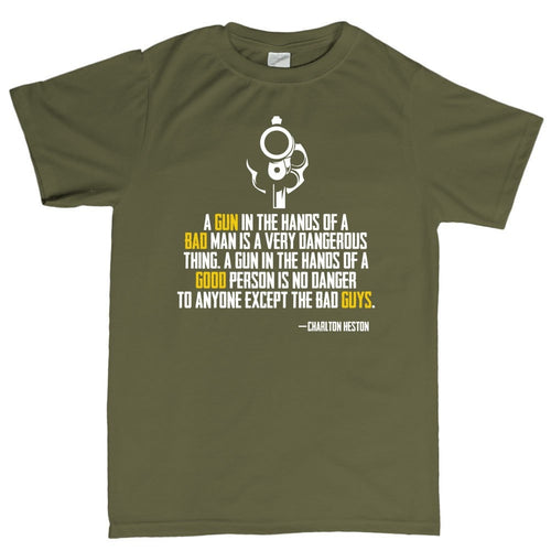 Charlton Heston Quote Men's T-shirt