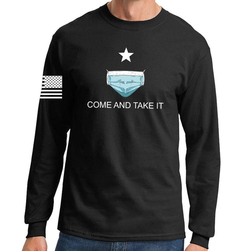 Mens Come and Take it - Medical Mask Edition Long Sleeve T-shirt