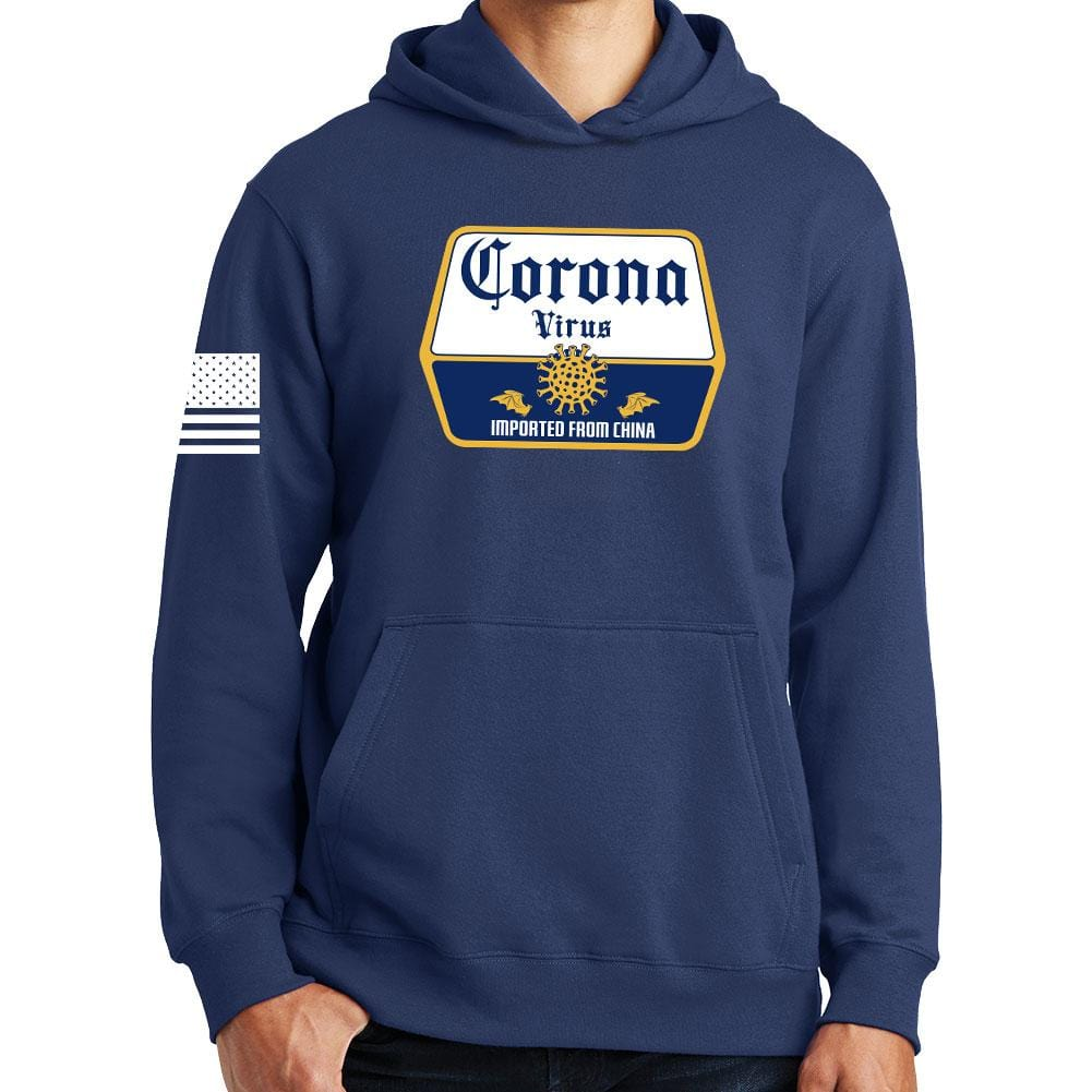 Corona Virus Beer Hoodie Forged From Freedom