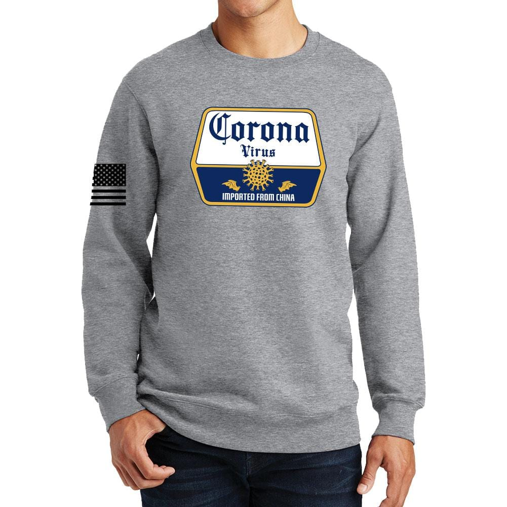 Corona Virus Beer Sweatshirt Forged From Freedom