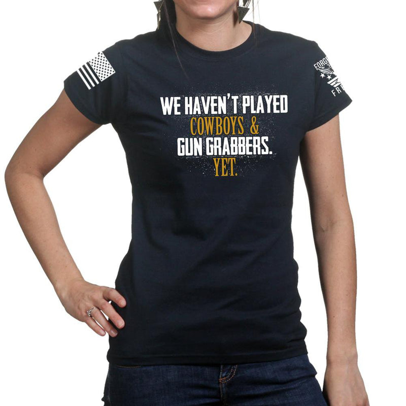 Cowboys and Gun Grabbers Ladies T-shirt