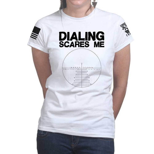 Dialing Scares Me Ladies T-shirt