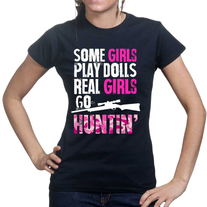 Girls, Dolls, and Hunting - Ladies T-shirt