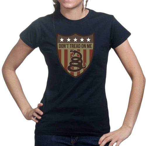 Don't Tread On Me (Shield) Ladies T-shirt