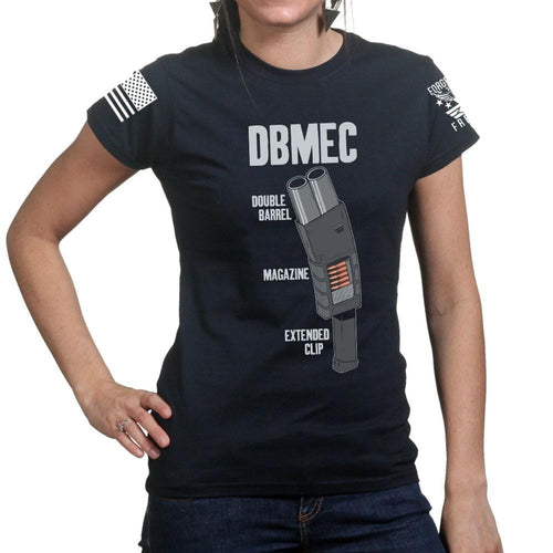 Ladies Double Barrel Magazine Extended Clip T-shirt