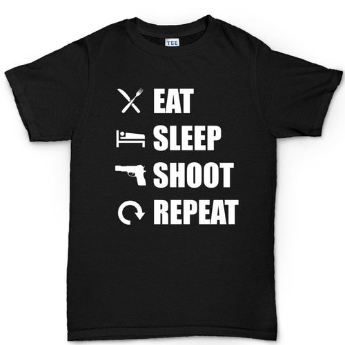 Eat Sleep Shoot Repeat Men's T-shirt
