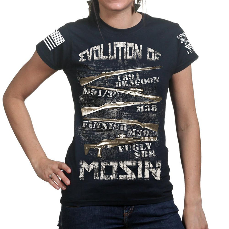 Evolution of Mosin Ladies T-shirt