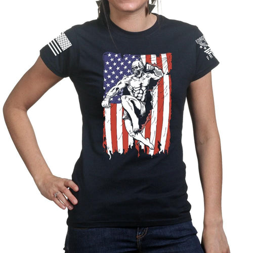 Ladies American Fighter T-shirt