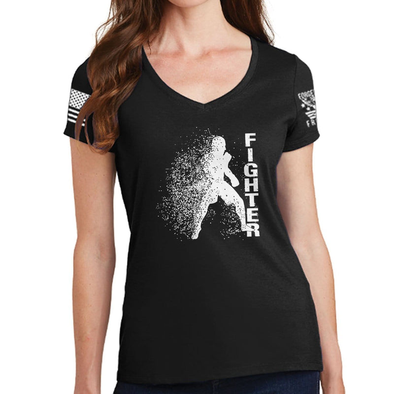 Ladies Fighter Silhouette V-Neck T-shirt