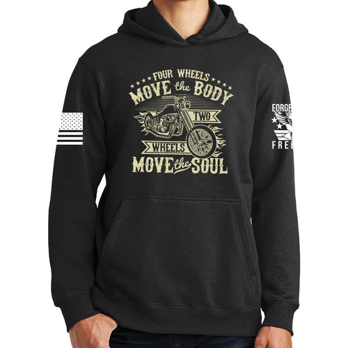 Four Wheels Move The Body Hoodie