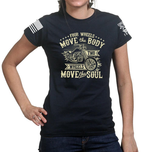 Ladies Four Wheels Move The Body T-shirt