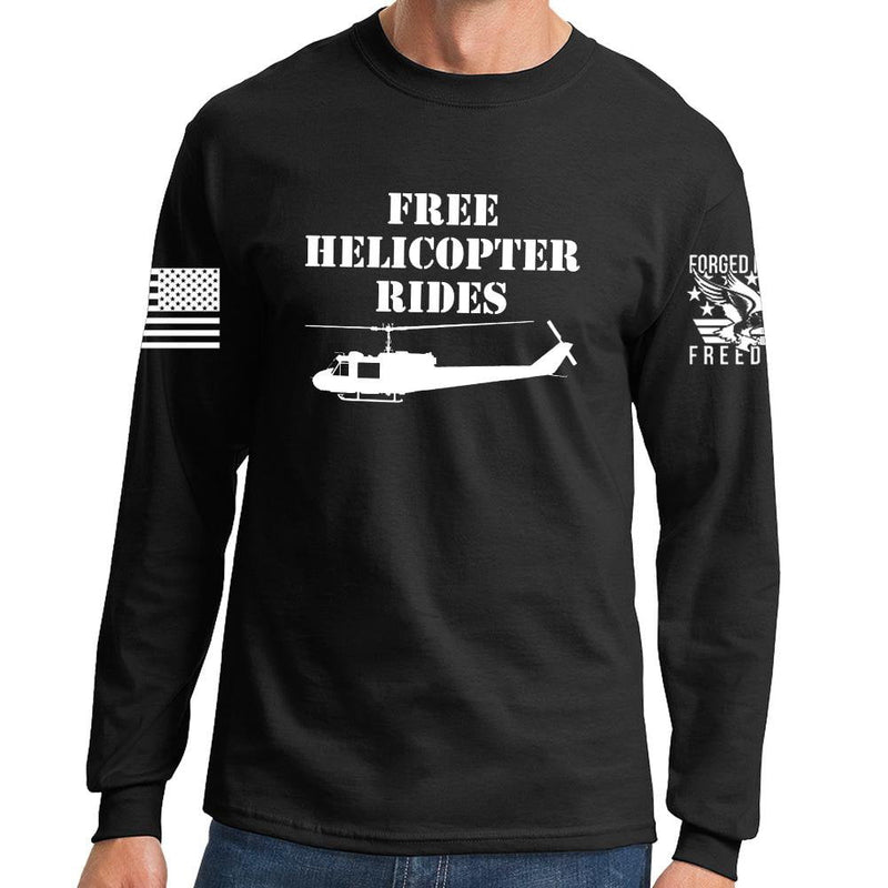 Free Helicopter Rides Long Sleeve T-shirt