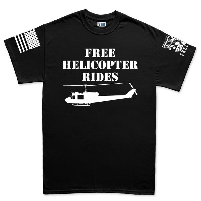 Free Helicopter Rides Men's T-shirt