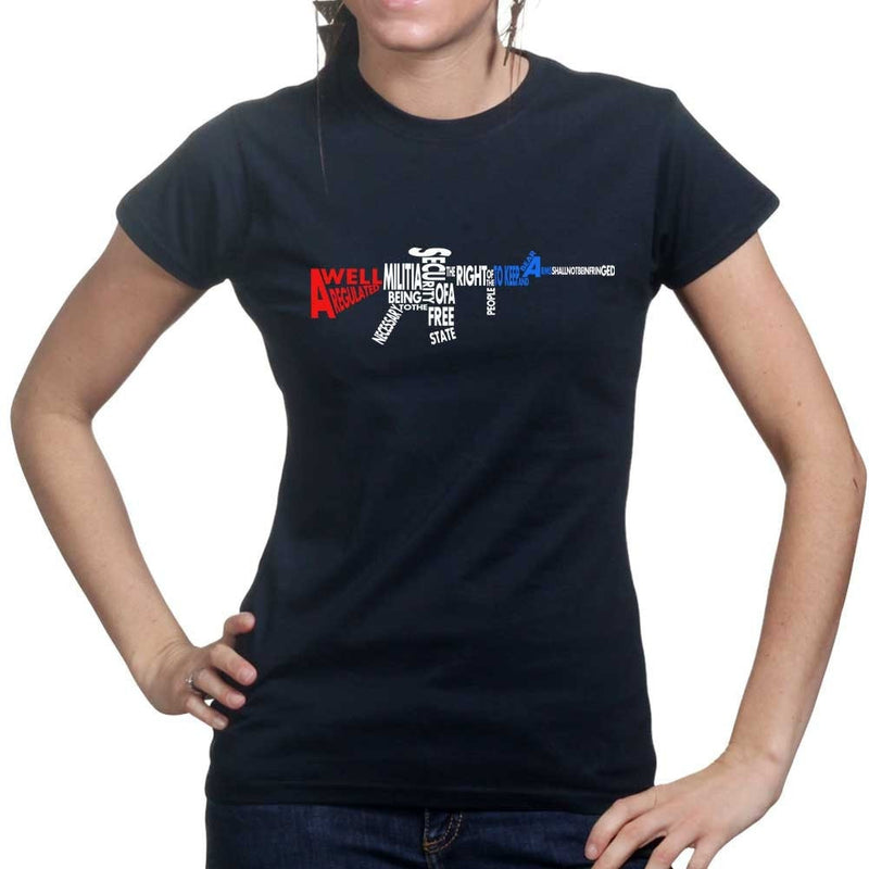 A Well Regulated Militia Rifle Ladies T-shirt
