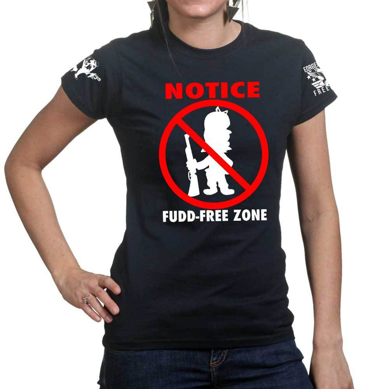 Fudd Free Zone Ladies T-shirt