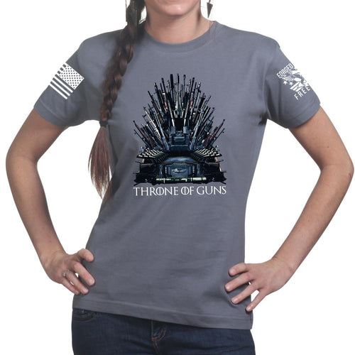 Throne of Guns Ladies T-shirt